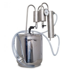 Destilační přístroj 5L - 24L Destilátor, Palírna, Lihovarník, Vinopalník, chlazení, dvojitý odkalovač