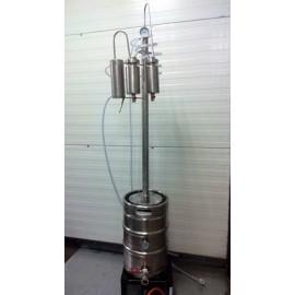 Dvouplášťový destilační přístroj Destilátor, Palírna, kolona - Automatický elektrický
