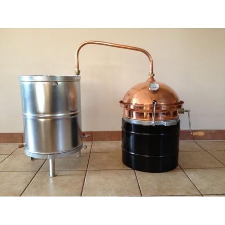 Měděná palírna 30L destilační přístroj Destilátor, kolona