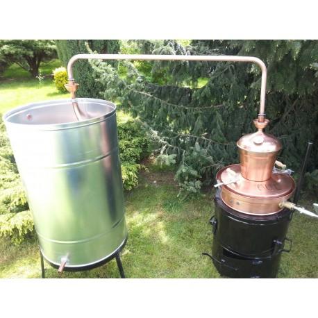 Měděná palírna 60L destilační přístroj Destilátor, kolona