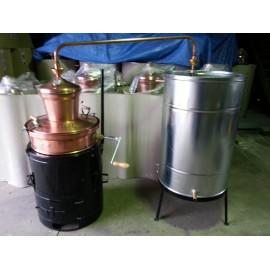 Měděná palírna 100L destilační přístroj Destilátor, kolona